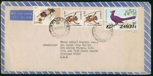MayfairStamps Zambia 1986 to Grand Rapids Michigan Air Mail Cover wwo7991