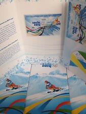 RUSSIA 2011 BOOKLET FOLDER BLOCK 2X FDC SOCHI CAPITAL XXII OLYMPIC WINTER GAMES