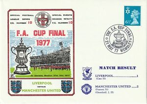 21 MAY 1977 LIVERPOOL v MANCHESTER UNITED FA CUP FINAL DAWN FOOTBALL COVERS