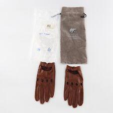 Fratelli Orsini Italian Men's Driving Gloves Genuine Brown Leather Size 10