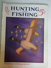 1932 Hunting And Fishing Magazine December issue Canada Geese