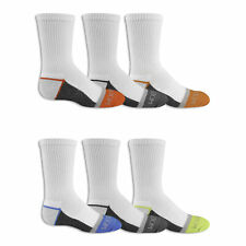 Fruit of the Loom Boys Everyday Active Crew Socks 6 Pair