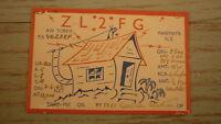 OLD HAM QSL RADIO CARD, 1949 PAREMATA NEW ZEALAND, ZL2FG