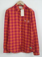 RRP €79 SCOTCH & SODA Men's X LARGE Rise And Ride Checked Regular Shirt 5079*mm