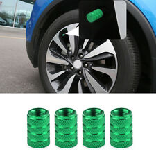 4 x Aluminum Green Piston Tire/Rim Valve/Wheel Air Port Dust Cover Stem Cap/Caps