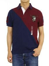 Polo Ralph Lauren Short Sleeve Custom Slim Fit Rugby Polo Shirt w/ Patch Emblem