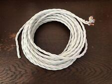 10m Textilkabel Stoffkabel 3-adrig gedreht Stromkabel Lampen-Kabel Elektrokabel