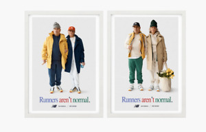 "Aime Leon dore x New balance ""runners aren't normal"" 827 poster Yellow Navy"