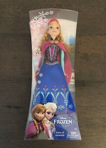 "New Disney Frozen Sparkle ANNA  Doll 12"" Classic Mattel Retired 2013 Brand New"
