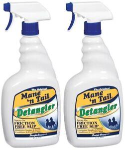 (2 Pack) Mane 'N Tail Detangler for Horses, 32 Ounce Spray Bottle
