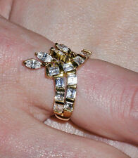 GOLD PLATED CZ FASHION RING – SIZE 7