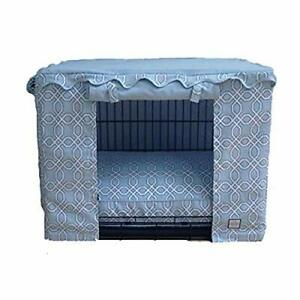 BowhausNYC Moroccan Trellis Crate Cover Light Blue Large