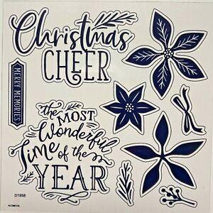 Comfort & Joy Scrapbooking D1958 Close To My Heart Christmas poinsettia winter
