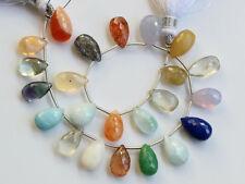 84ctw Chalcedony Fluorite Larimar Lapis Mexican Opal Sunstone Moonstone Beads