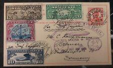 1928 New York USA Graf Zeppelin Stationary Postcard cover LZ 127 To Germany FFC