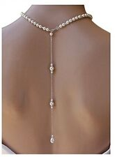Pearl Back Drop Necklace,Pearl Bridal Necklaces, Back Drop,Jewelry wedding party