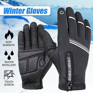Winter Bike Cycling Glove Warm Full Finger Gloves Touch Screen Gloves  ~ hy