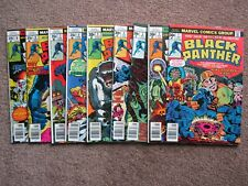 NOS>NM> Lot of 9 BLACK PANTHER 1 to 9 comic book >CGC READY ! key issue 1st solo
