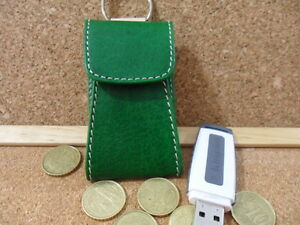 Porta Telecomando Porta Chiave Porta chiavetta USB in Cuoio con Incisione Gratis