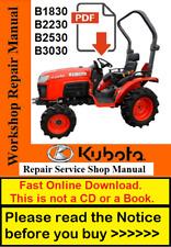 Kubota Manual B1830 B2230 B2530 B3030 Tractor Service Repair Workshop Manual