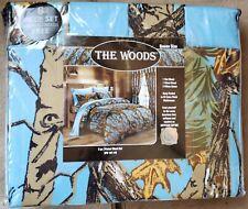 Camouflage Regal Comfort The Woods Printed Blue Camo Queen Comforter Sheet Set