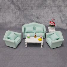 Dollhouse Miniature bleu petite fleur Coussin Throw Pillow Canapé échelle 1//12th