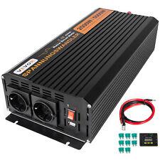 Inversor de corriente Onda Pura 2500W 12V 5000W 220V Convertidor con cables