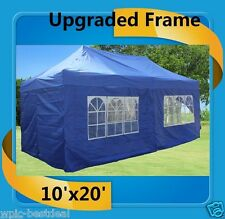 10'x20' Pop Up Canopy Party Tent EZ - Blue - F Model Upgraded Frame