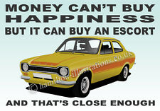 Ford Escort Mk1 RS2000 Mexico 2 Door Art illustration Key Ring **YELLOW**