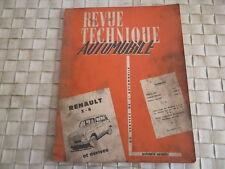 REVUE TECHNIQUE RENAULT 3 - 4  ET DERIVES R1120 ET R 1121