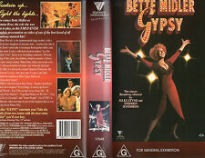 GYPSY - Bette Midler - VHS - PAL - NEW - Never played!! - VERY RARE!!