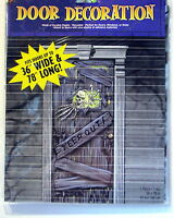 Haunted House Halloween Decoration Keep Out Door Prop