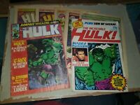 Job Lot Stan LEE HULK Comics 1979 Issue 6 8 9 12 13 1982 issue 26 & Rampage 15