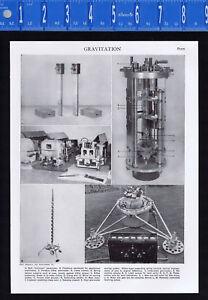 Measuring Gravitation: Pendulums, Gravimeter - 1950s Science Print