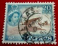 Cyprus:1955 Queen Elizabeth II 20M Rare & Collectible stamp.