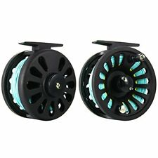 Fly Fishing Reel 5/6 Wt, Weight Forward Line Wf-6F with Welded Loop Blue&Yellow