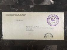 1950 Consulate Of Sudafrica Congo Belge Diplomatic Cover To Luluabourg