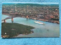 Aerial view of Montreal, P.Q. Canada Vintage  Postcard