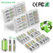 Lot AAA AA Ni-MH Rechargeable Batteries Pack for Camera Toys Remote Flashlights