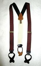 TRAFALGAR CLOTH BRACES SUSPENDERS with LEATHER FITTINGS