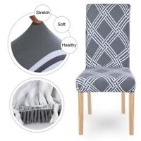 Stretch Chair Covers Slipcovers Dining Room Stool Seat Cover Removable Decor A