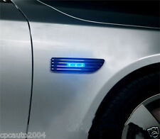 Car Blue led Light Air Intake Flow Vent Fender Decoration Stickers Side Cover