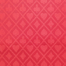 PRO Suited Speed Cloth for Poker Tables - Solid Red (10 Feet)