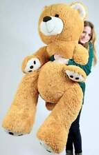 Big Plush Giant Teddy Bear 5 Feet Tall Honey Brown Color Soft Big Teddy Bear