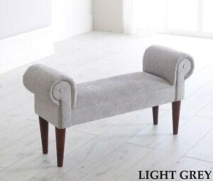 Chenille Mini Chaise Lounge Style Sofa Window Hallway Seat Bench Stool Chair