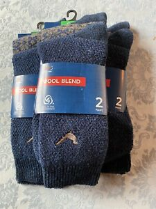 M&S Wool Blend Socks 3 X Packs Of 2 Pairs (so 6 Pairs) Ex M&S Size 9-12 RRP: £30