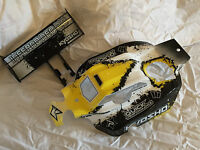 KYOSHO INFERNO NEO 2, NEO, NEW YELLOW & BLACK BODY SHELL + WING TYPE 4, IFB112T4