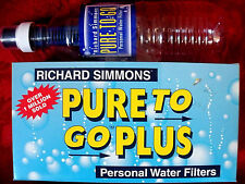 NEW WATER PURIFIFIER BOTTLE / 12 FILTERS PURE TO GO PLUS New Box RICHARD SIMMONS