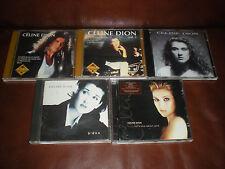 LOT 5 CD CELINE DION : SERIE GOLD 1 + 2 + UNISON + D'EUX + LET'S TALK ABOUT LOVE