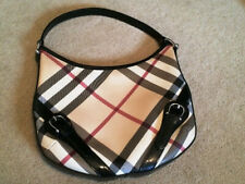 Burberry Nova Check Plaid Larkin Hobo Shoulder Purse